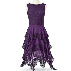 laced chiffon dress